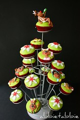 Santa's Alternative Reindeer Christmas Cupcake Tree ...... (abbietabbie) Tags: christmas cake fruit reindeer sugar explore cupcake icing marzipan alternative fondant