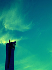 wisp [er]-[er] (disorderhouse) Tags: city blue sky cloud building clouds outside lasvegas gradient