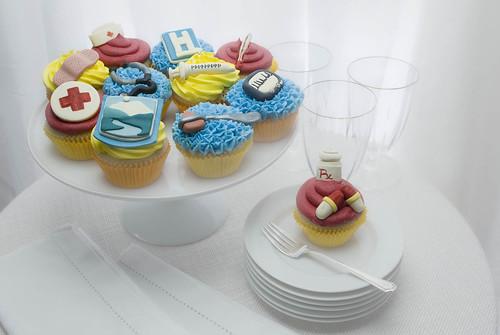 Custom Hospital Cupcakes