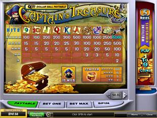 free Captain's Treasure slot mini symbol