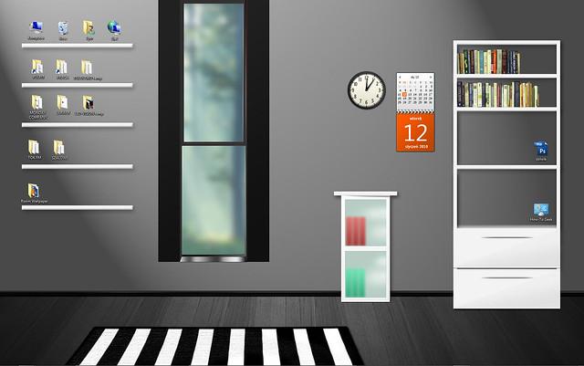 Room 7 Desktop Wallpaper. Sample 2: some space for desktop gadgets provided.