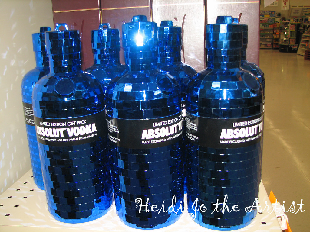 Bright Blue Shiny Repetition - Absolut Vodka