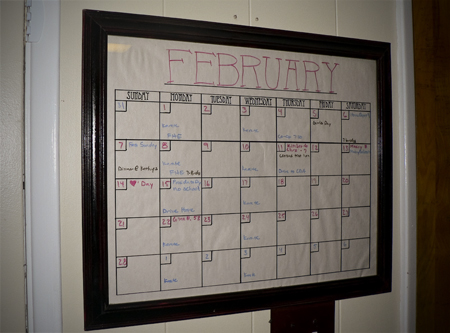 DIY Dry Erase Calendar // cheap frame from the thrift store and print off a calendar Find this Pin and more on DIY and upcycling by Susa Labim. get a cheap frame from the thrift store and print off a calendar.