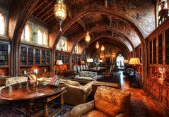 The Gothic Study - The Private Library of William Randolph Hearst (Stuck in Customs) Tags: world california ranch park christmas wood travel usa west color castle architecture digital america painting photography book design coast la blog high nikon san warm arch estate dynamic stuck julia state pacific antique library united hill gothic north arches books william historic blanca spanish study carol imaging hearstcastle states mansion morgan ornate dickens range hearst simeon hdr trey enchanted rancho travelblog encantada tassel customs bibliophile cuesta piedra aesthetic palatial handcarved ratcliff randoph stuckincustoms d3x treyratcliff