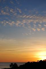 Tramonto dalla spiaggia (Agostino Granatiero) Tags: sunset sea sky sun mountain beach clouds capri nikon tramonto nuvole mare palm porto cielo napoli naples monte nikkor 18 55 sole palma spiaggia seaport d60 faito