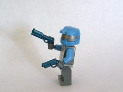 Cobalt Auto-9 and Blaster (The Skull Bandit) Tags: brick art apple movie for tv call arms lego duty ghost engine halo artsy will prototype microsoft amelia trans build cod nerf trade bionicle proto prototypes chapman protos mw2 brickarms mw1