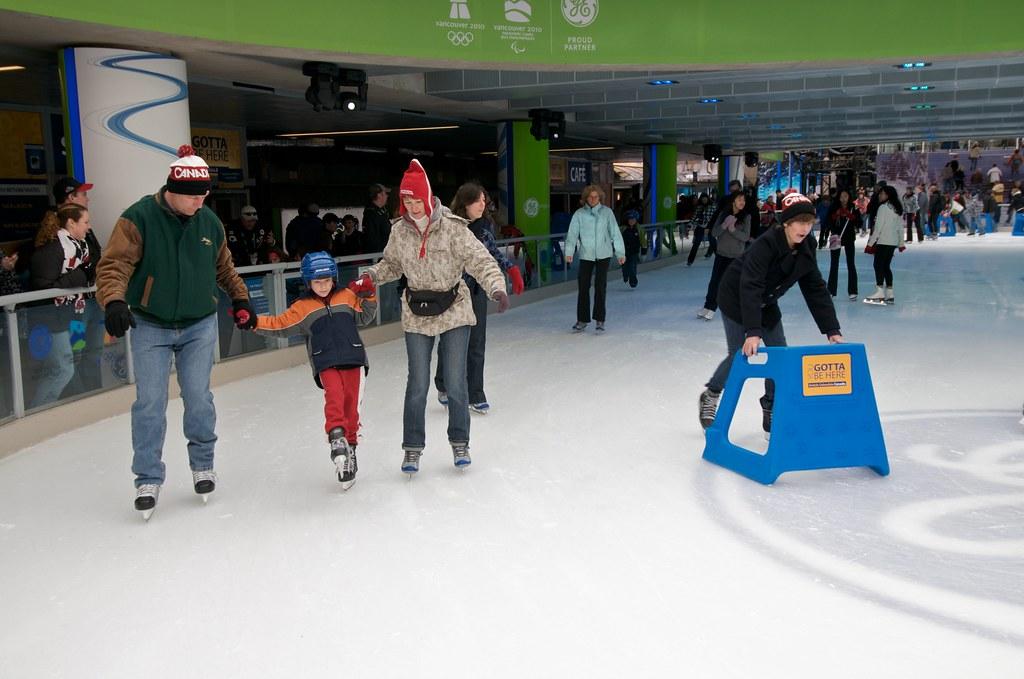 Skating at Robson Square