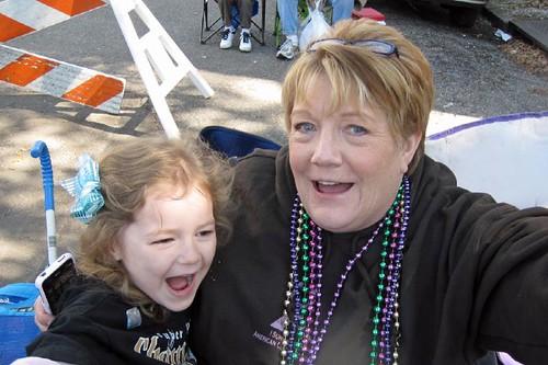 Autumn and Grandma at Mardi Gras