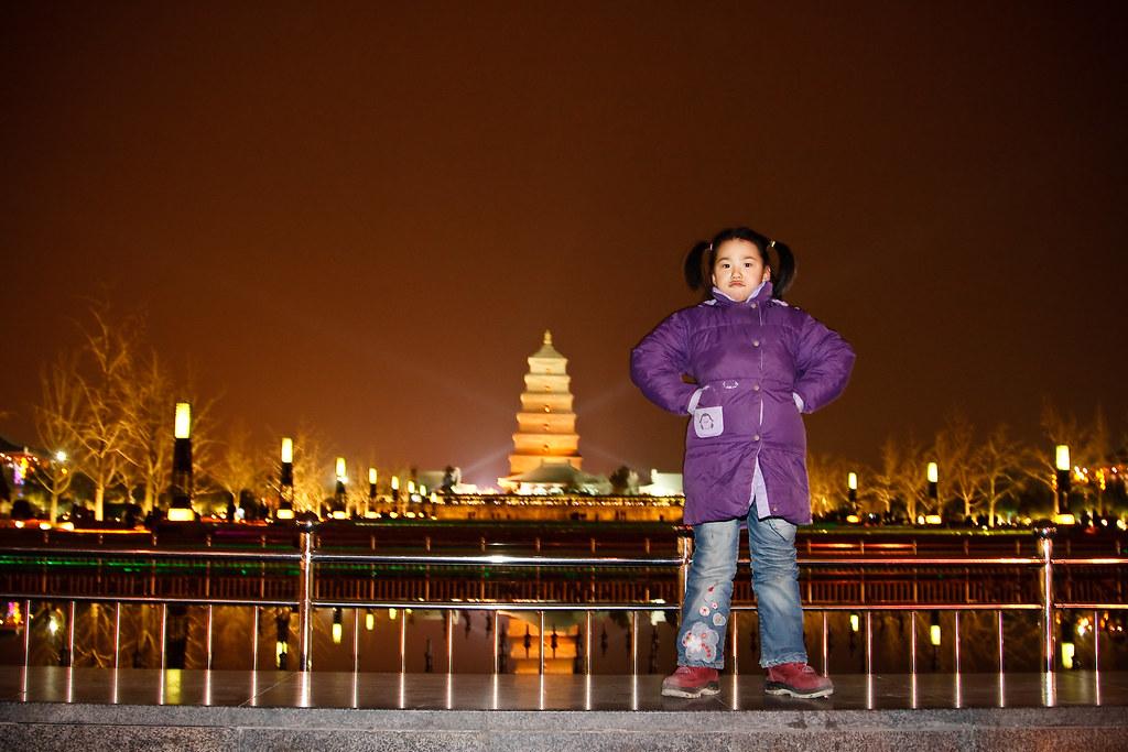 Giant Wild Goose Pagoda in Xi'an
