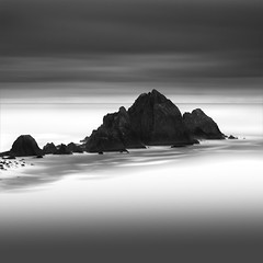 Delineated (maxxsmart) Tags: ocean california longexposure winter bw seascape water clouds contrast canon coast blackwhite rocks highway1 lee bayarea layers lowtide pacifica 2010 sanmateocounty ef70200f4l devilsslide gnd nolayers singleimage nonis nd110 10stopnd 5dmarkii 9ndgrad