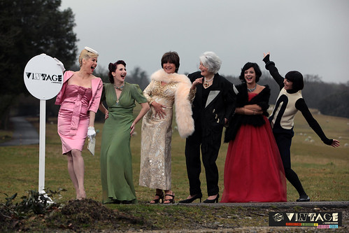 Vintage at Goodwood Launch - Sara Stockbridge, Kitten von Mew, Sandie Shaw, Bronwen Astor, Lily Allen, Corinne Drewery