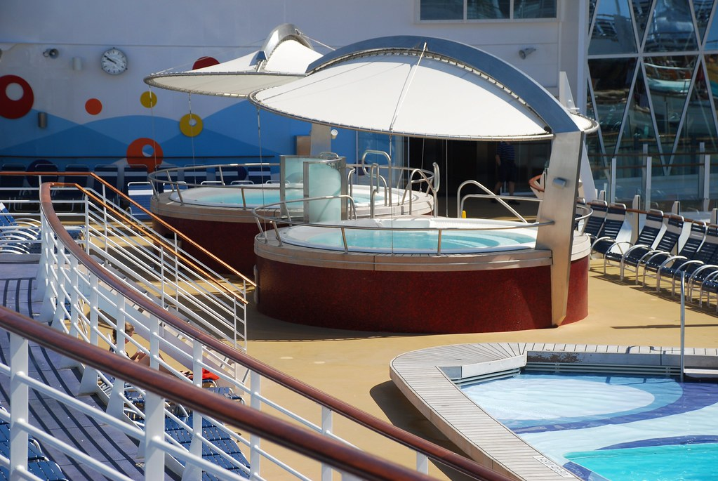 Hot tubs on the Sports Deck on the Oasis of the Seas