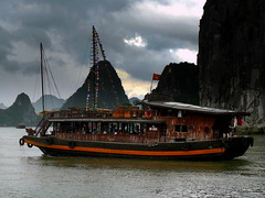 Adventure In Halong Bay, Vietnam (Butch Osborne) Tags: trip travel cruise sea water lumix boat junk southeastasia sailing ship cruising panasonic vietnam adventure sail digitalcamera traveling 1001nights exploration dmc halongbay chinesejunk digitalphotography mustsee worldtravel vitnam  hni likeapostcard vit mywinners thuyn dmcfz50 panasonicdmcfz50 vnhhlong flickrdiamond overseasadventuretravel cnghaxhichnghavitnam bucketlist vitthuyn