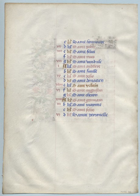 BOOK OF HOURS Ref 7 May verso by RMGYMss