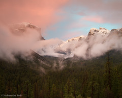 Tunnel View, Sunset and Clearing Storm, Yosemite National Park, CA (Sudheendra Kadri) Tags: california winter sunset sky mist snow storm cold nature northerncalifornia fog clouds nationalpark dramatic calm yosemite granite halfdome yosemitenationalpark peaks elcapitan bridalveilfalls yosemitevalley sudhi tunnelview sudheendrakadri