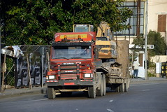TRUCKING IN LEBANON (Claude  BARUTEL) Tags: road lebanon truck transport eat middle beirut trucking scania