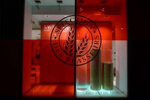 Vitrines l'Atelier des Brasseurs Kronenbourg, Paris mars 2010