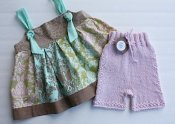 Hushabye set - knit shorties & knot dress - medium