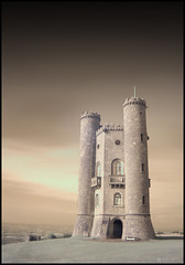 Broadway Tower (Ben Locke (Ben909)) Tags: longexposure tower ir broadway gargoyle infrared worcestershire turrets broadwaytower tumblr