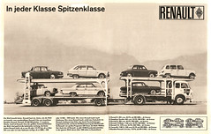 Renault 1965 (jens.lilienthal) Tags: auto old classic cars car truck vintage advertising major reclame 10 4 ad 8 s voiture historic renault advertisement 16 autos rambler werbung dauphine reklame transporter voitures 1100 anzeige caravelle gordini