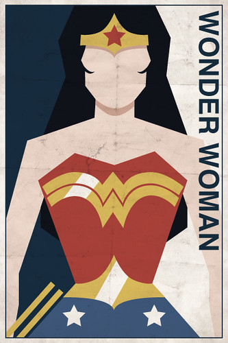 Wonder Woman Vintage Poster