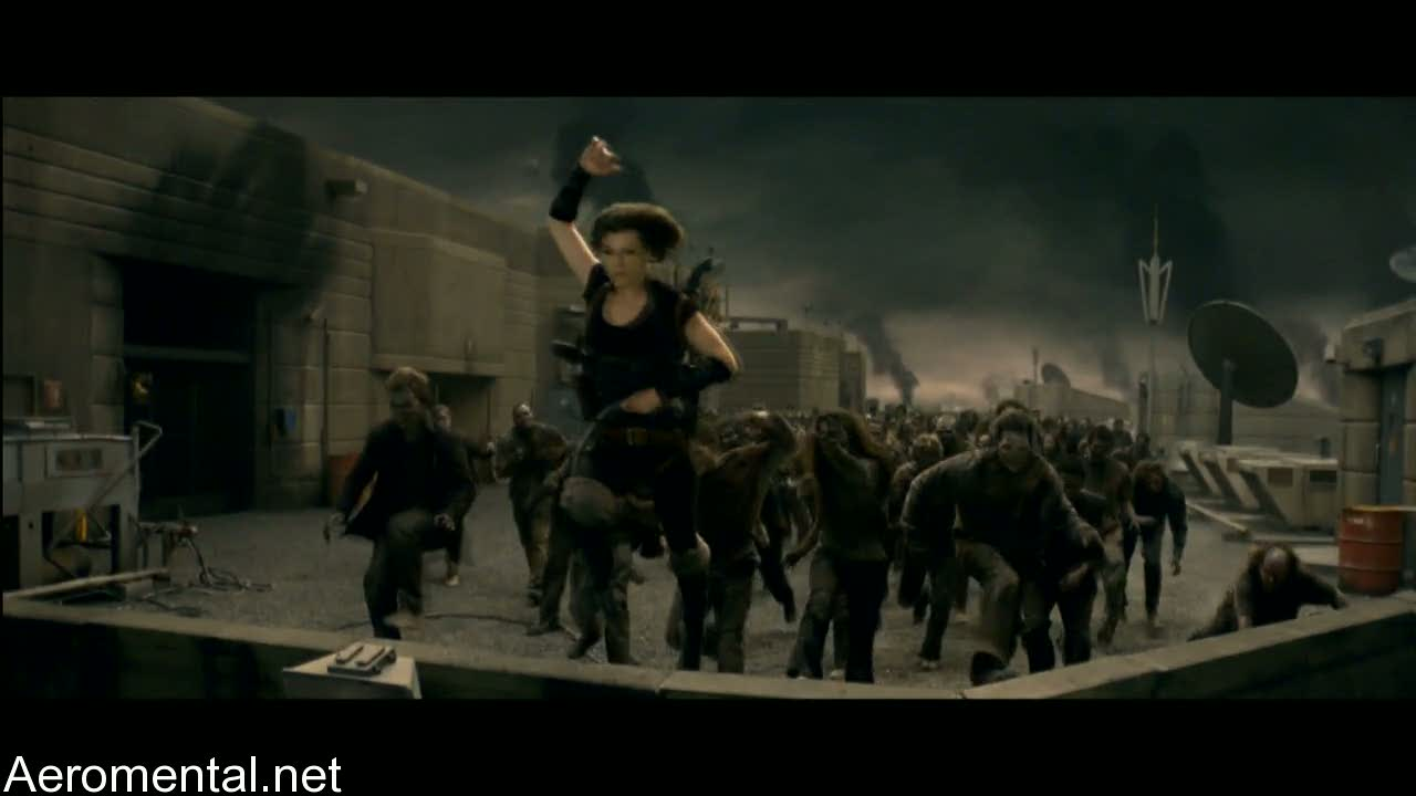 Resident Evil Afterlife prisión zombies