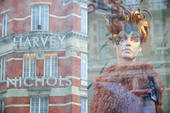 H N (Alooy ) Tags: london glass rain day models harvey nichols reflaction