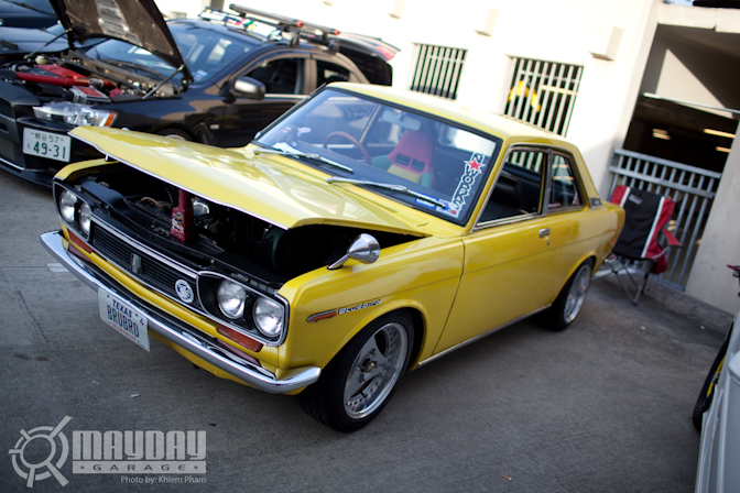 Wow, a JDM Datsun Bluebird Coupe was showing as well