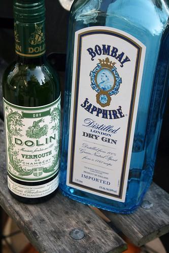 gin, vermouth