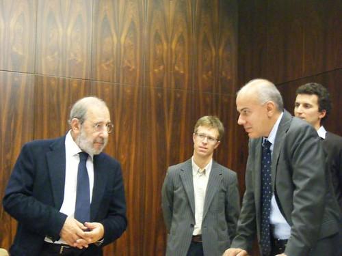 Edoardo Croci con l'architetto portoghese Alvaro Siza, 2009