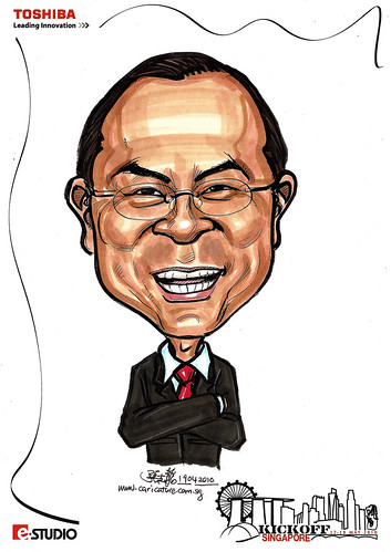 Caricatures for Toshiba - Kickoff Singapore - Watanbe