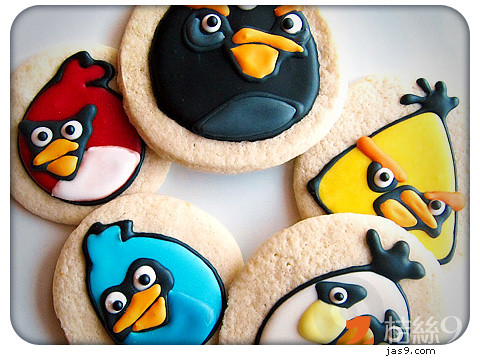 Sugar Angry Birds Cookies