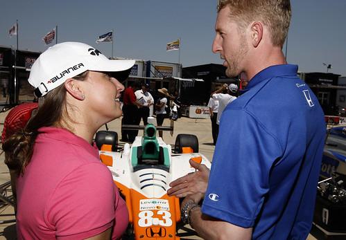 Charlie Kimball hosts LPGA Golfer Kelli Kuehne