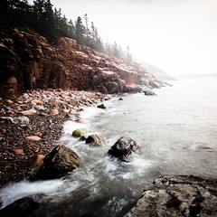 perpetual ocean (Nate Parker Photography) Tags: ocean sea seascape fog canon landscape rocks maine newengland atmosphere cliffs granite desaturated 1740mm squarecrop barharbor 1x1 mountdesertisland mdi acadianationalpark haveaniceday 500x500 downeast lightroom3 5dmkii