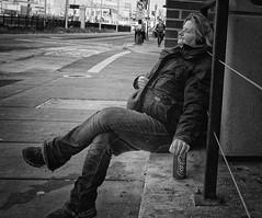 COKE BREAK (daveson47) Tags: monochrome mono blackandwhite bw coke cocacola candid street streetphoto streetphotography minneapolis ricoh ricohgrd grd