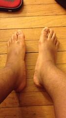 IMG_3481 (_bagent1) Tags: myfeet boyfeet chubbyfeet barefeet bearfeet thickfeet chubbytoes chubby chubbysoles soles slides sandals tops toes