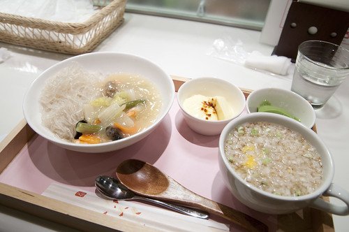塩中華と寒天ぞうすいセット, かんてんぱぱ, 東急 Foodshow デモンストレーションキッチン