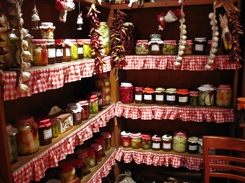 Wide assortment of picked foods and jams