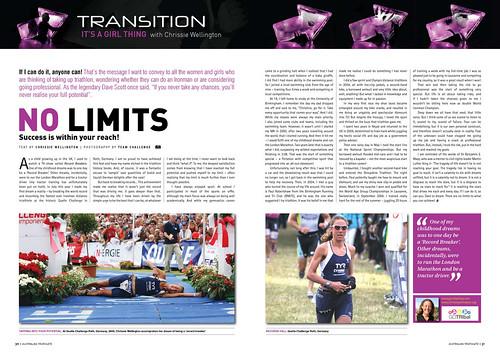 Australian Triathlete Magazine: NO LIMITS