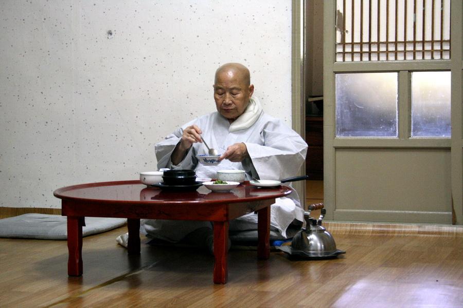 Elderly male monk