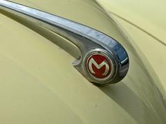 Morris Minor badge (von_brandis) Tags: metal logo typography icon m chrome badge british morrisminor oneletter carbadge onelettersmall