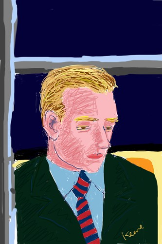 Man on train (iPhone drawing)