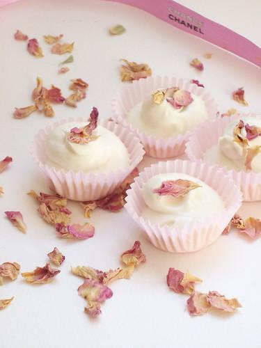 Truffes blanches à la rose