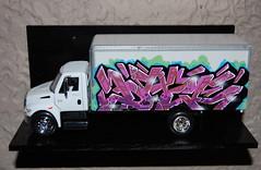 international truck uos (daze tn) Tags: street art truck graffiti tn alabama cube styles daze nsa rtm cubetruck graffitijam dazetn