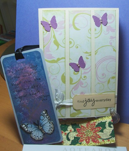 Dawn's card and goodies to Judy