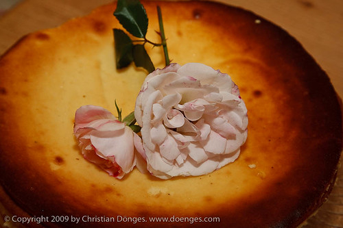 Cheesecake with Pink Rose
