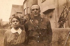 In Remembrance: Uncle Johnny and Aunt May (ngawangchodron) Tags: england canada soldier nurse worldwar1 canadiansoldiers johnnysimpson remebranceday maysimpson