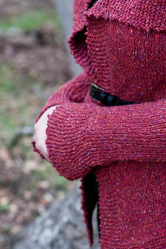 Mimi's Ruby Cardigan - Sleeve / Cuff Detail