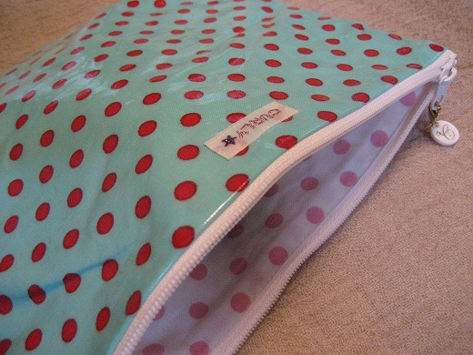 Colorful Dots Fabric Pouches from Curly Collection
