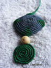 VENDIDO.- (lavestruz) Tags: necklace handmade artesanal macrame makrame hilos circulos tagua colgante macramé